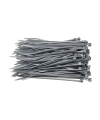 Kabelbinders 2,5 x 100 mm grijs - zak 100 stuks
