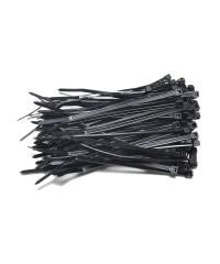 Kabelbinders 2,5 x 100 mm zwart  - zak 100 stuks