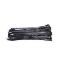Kabelbinders 2,5 x 200 mm zwart - zak 100 stuks