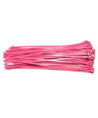 Kabelbinders 4,8 x 300 mm neon roze - zak 100 stuks