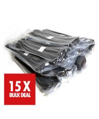 Kabelbinders 4,8 x 200 mm. zwart - zak 100 stuks x 15 - 15 jaar aanbieding