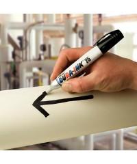 Markal Dura-Ink 25 permanent marker in gebruik