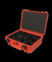 Gaffergear Case 043 oranje met klittenbandvakverdeling