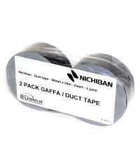Nichiban - Duct tape - 50mm x 25m - Zwart verpakking