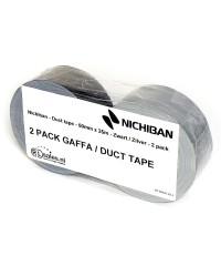 Nichiban - Duct tape - 50mm x 25m - Zwart / Zilver verpakking