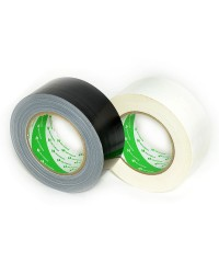 Nichiban - Duct tape - 50mm x 25m - Zwart / Wit - 2 pack