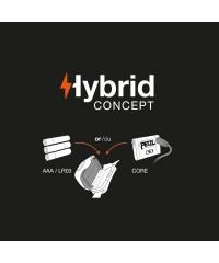 Petzl Actik Core voorzien van Hybrid concept