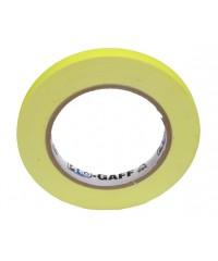 Pro-Gaff neon gaffa tape 12mm x 22,8m geel