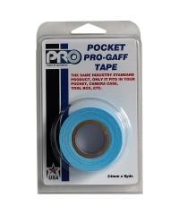Verpakking Pro Pocket Gaffa tape 24mm x 9,2m neon blauw