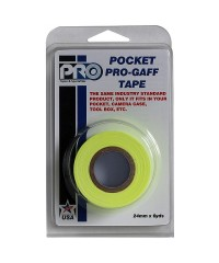 Verpakking Pro Pocket Gaffa tape 24mm x 9,2m neon geel
