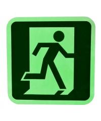 Fotoluminescente Nooduitgang sticker rechts