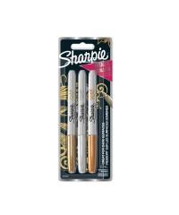 Sharpie Fine Point set metallic - Goud, Zilver en Brons