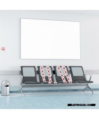Social Distance Stoeltape toegepast in wachtruimtes