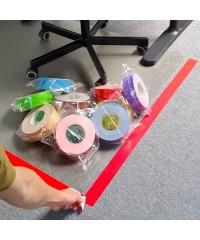 Markeringstape Rood op kantoor