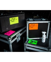 Visi-PAL label op flightcase