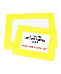 Vloer Markeringshoes Transparant met Gele rand - A4
