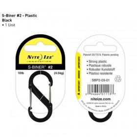 Nite Ize S-Biner #2 plastic zwart