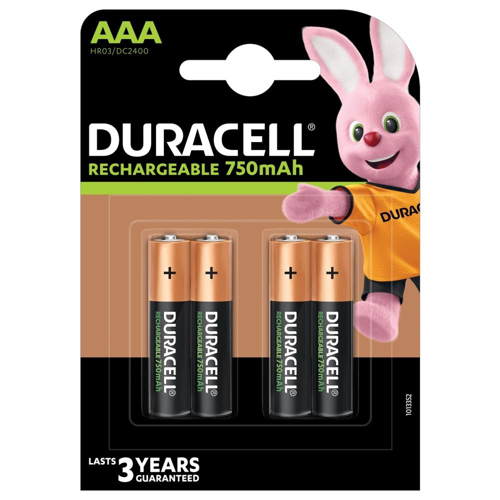Duracell AAA Oplaadbare Batterijen - 750 mAh - 4 stuks