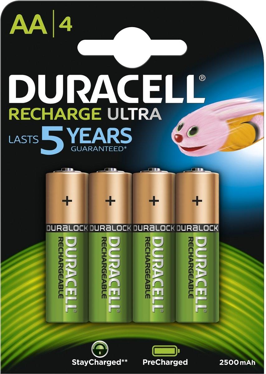 Duracell AA Oplaadbare Batterijen - 2500 mAh - 4 stuks