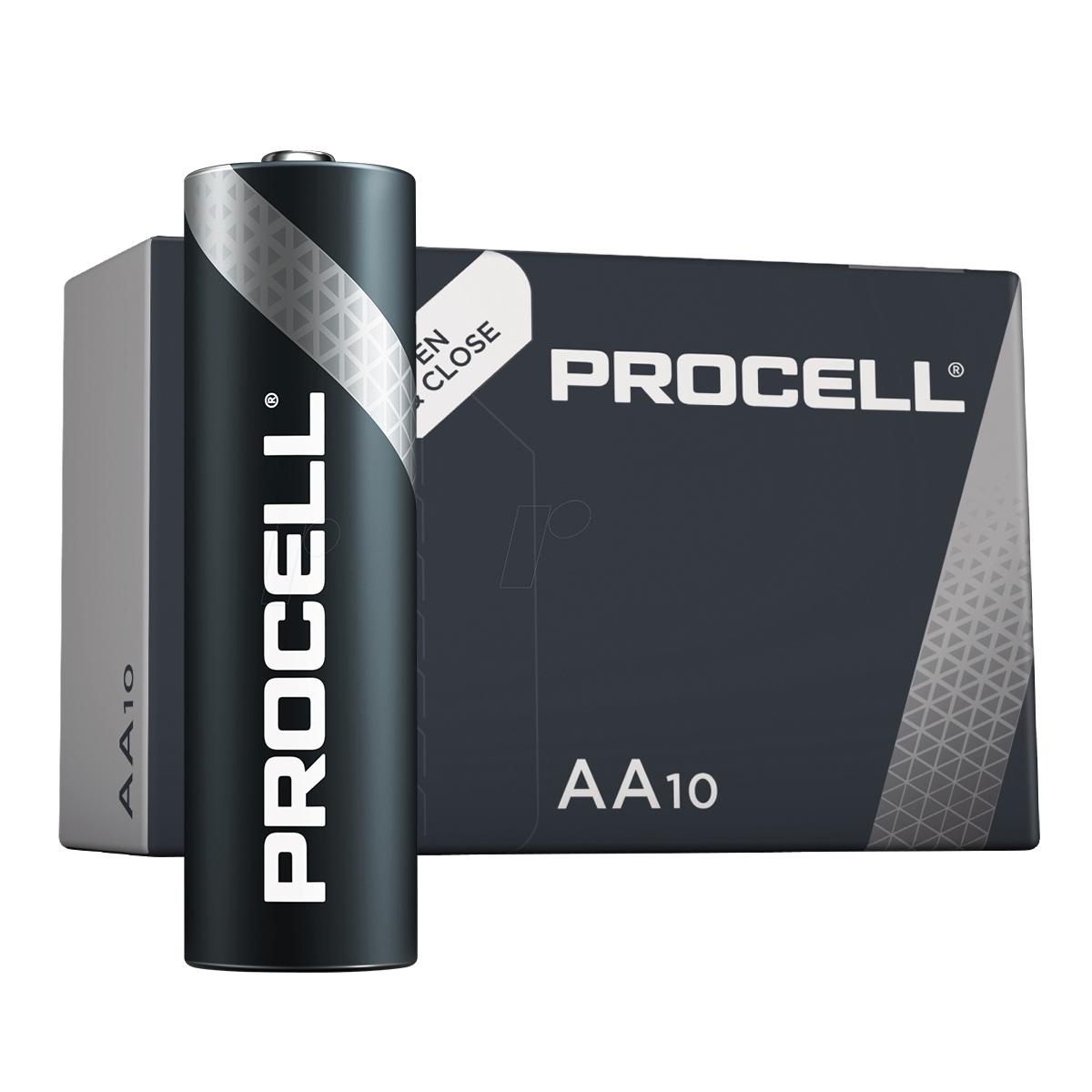 Duracell Procell AA, doosje 10 stuks