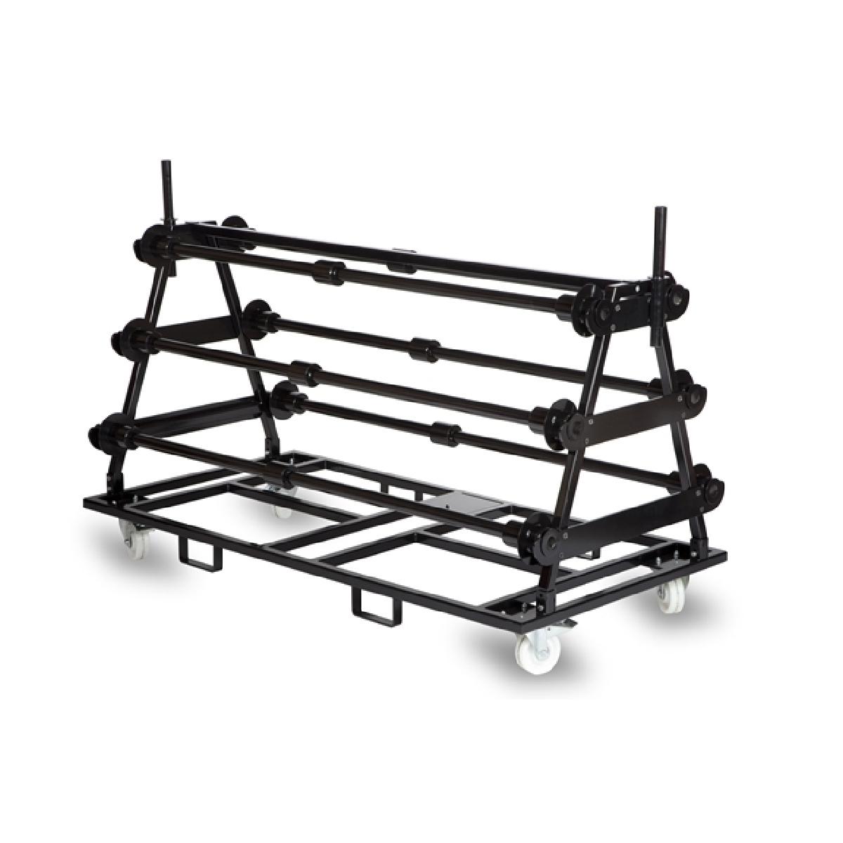 Transportkar voor vinyl dansvloeren - 4 rollen / 1,5m breed