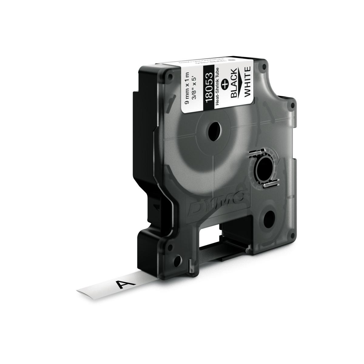 Dymo RHINO 18053 - IND Krimpkous label - 9mm zwart op wit