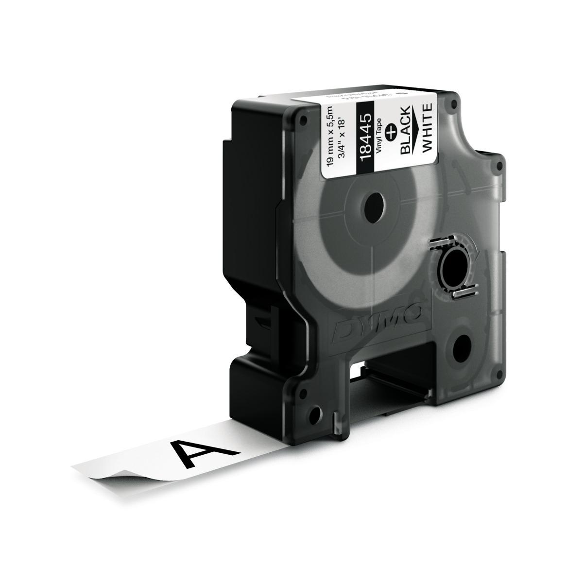 Dymo RHINO 18445 IND - vinyl label tape - 19mm zwart op wit