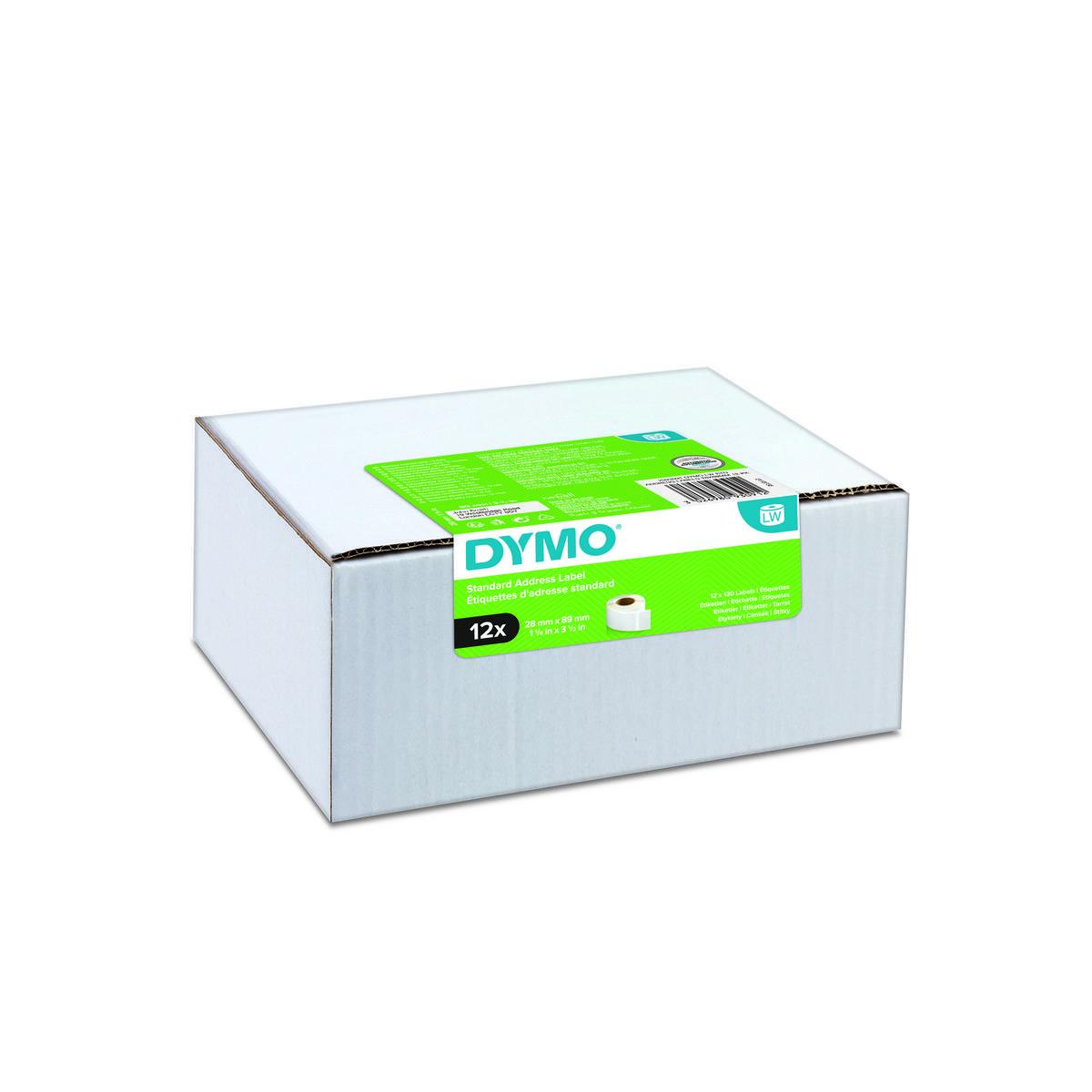 Dymo 2093091 - 89 x 28mm - wit papieren labels - 12 rollen