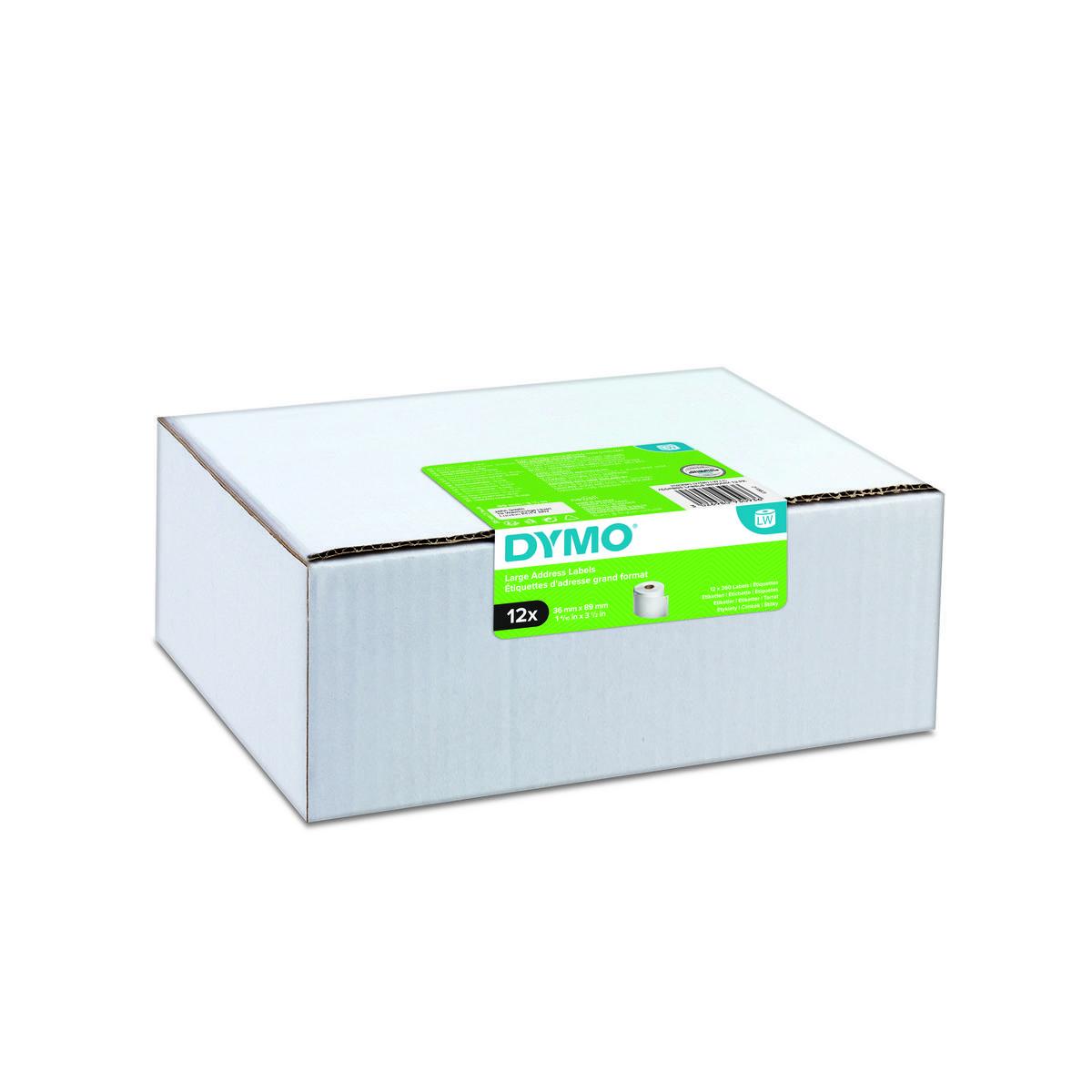 Dymo 2093093 - 89 x 36mm - wit papieren labels - 12 rollen