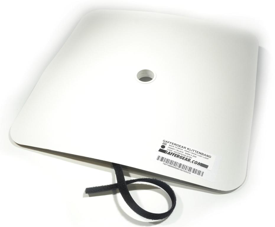 GafferGear klittenband rol 10mm x 25m back to back zwart