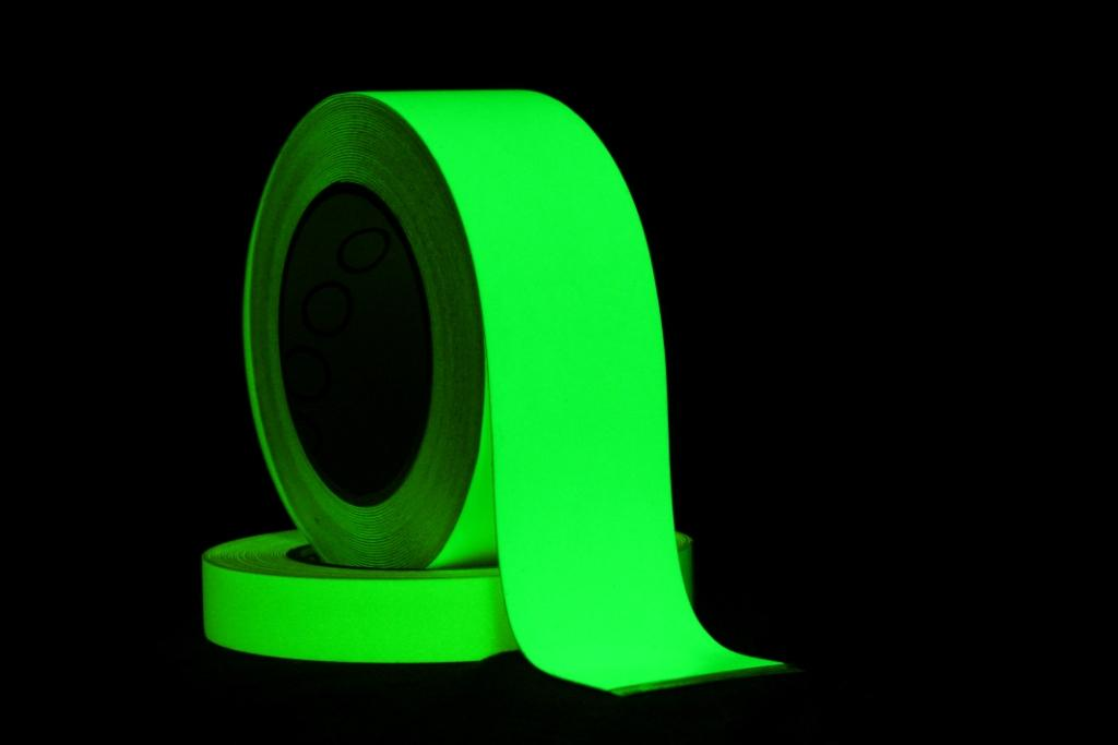 Pro Fotoluminescente (glow in the dark) tape 20mm x 10m.