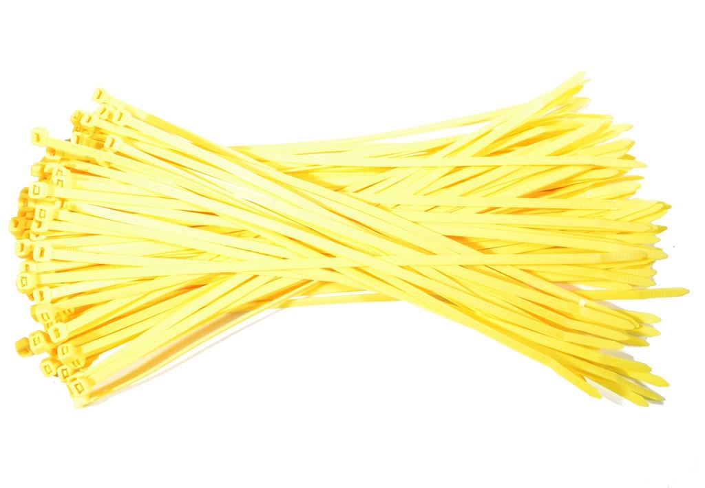Kabelbinders 3,6 x 140 mm. geel - zak 100 stuks