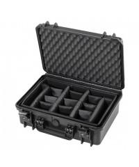 Gaffergear camera koffer 043 zwart -Met klittenband vakverdeling  - 36,600000  x 17,600000 x 17,600000 cm (BxDxH)