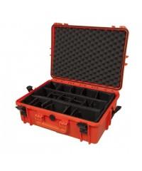 Gaffergear camera koffer 050 oranje-Met klittenband vakverdeling  - 42,800000  x 21,100000 x 21,100000 cm (BxDxH)