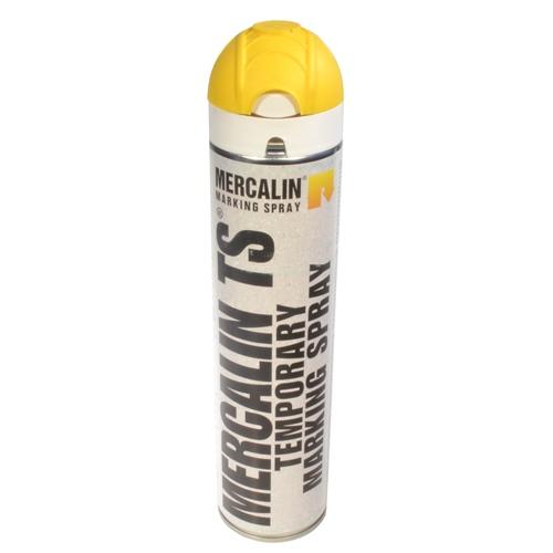 Mercalin TS tijdelijke markeringsverf - spuitbus 600ml geel