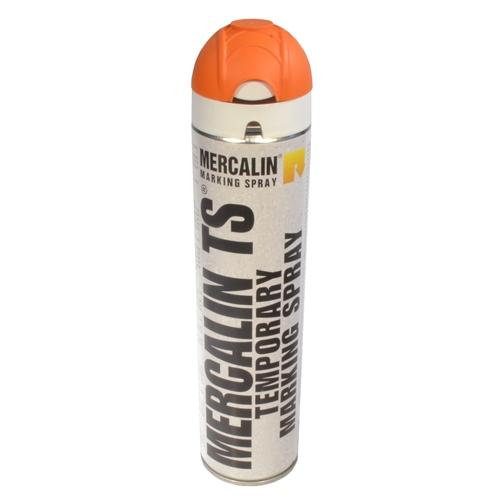 Mercalin TS tijdelijke markeringsverf - spuitbus 600ml oranj