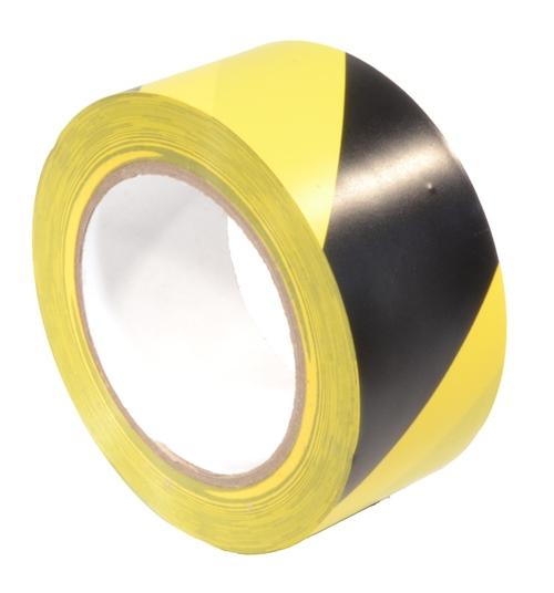 Markeringstape Geel/Zwart 50mm x 33m
