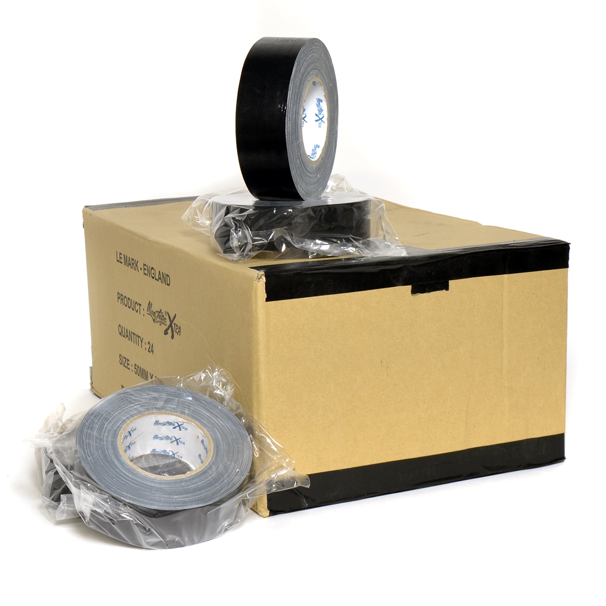 Magtape XTRA 50mm x 50m zwart - doos 24 rollen