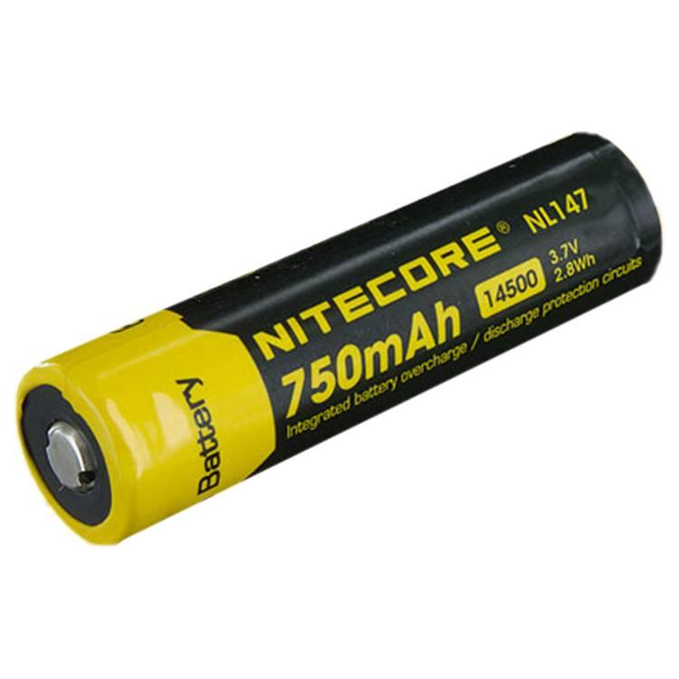 Nitecore 14500 Li-ion battery NL147 750mah