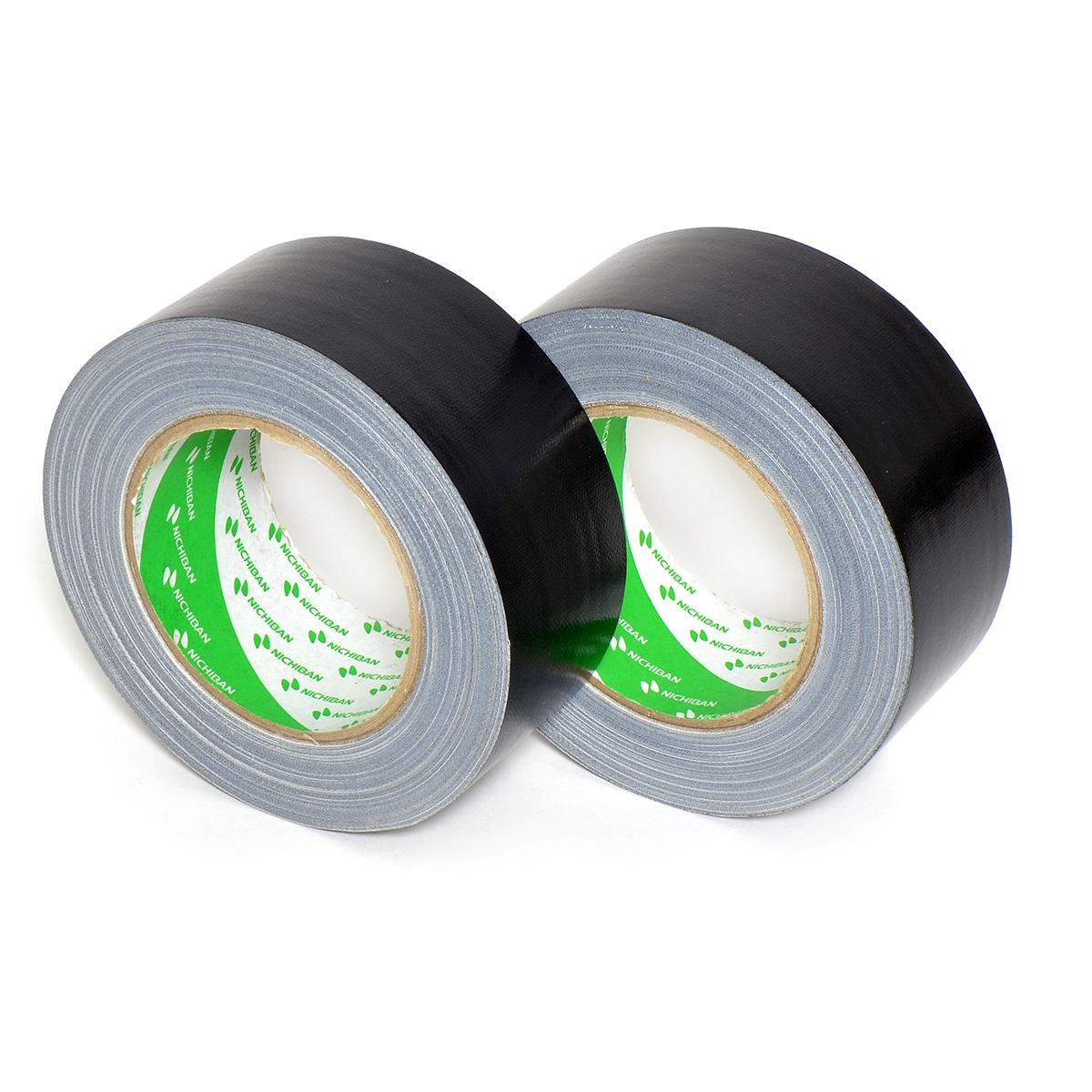 Nichiban - Duct tape - 50mm x 25m - Zwart - 2 pack