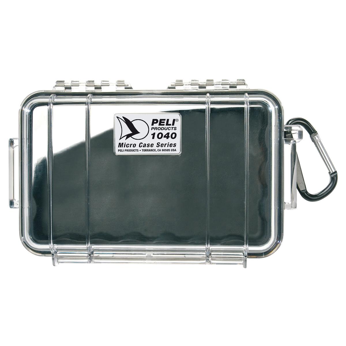 Peli Case 1040 Micro Transparant / Zwart
