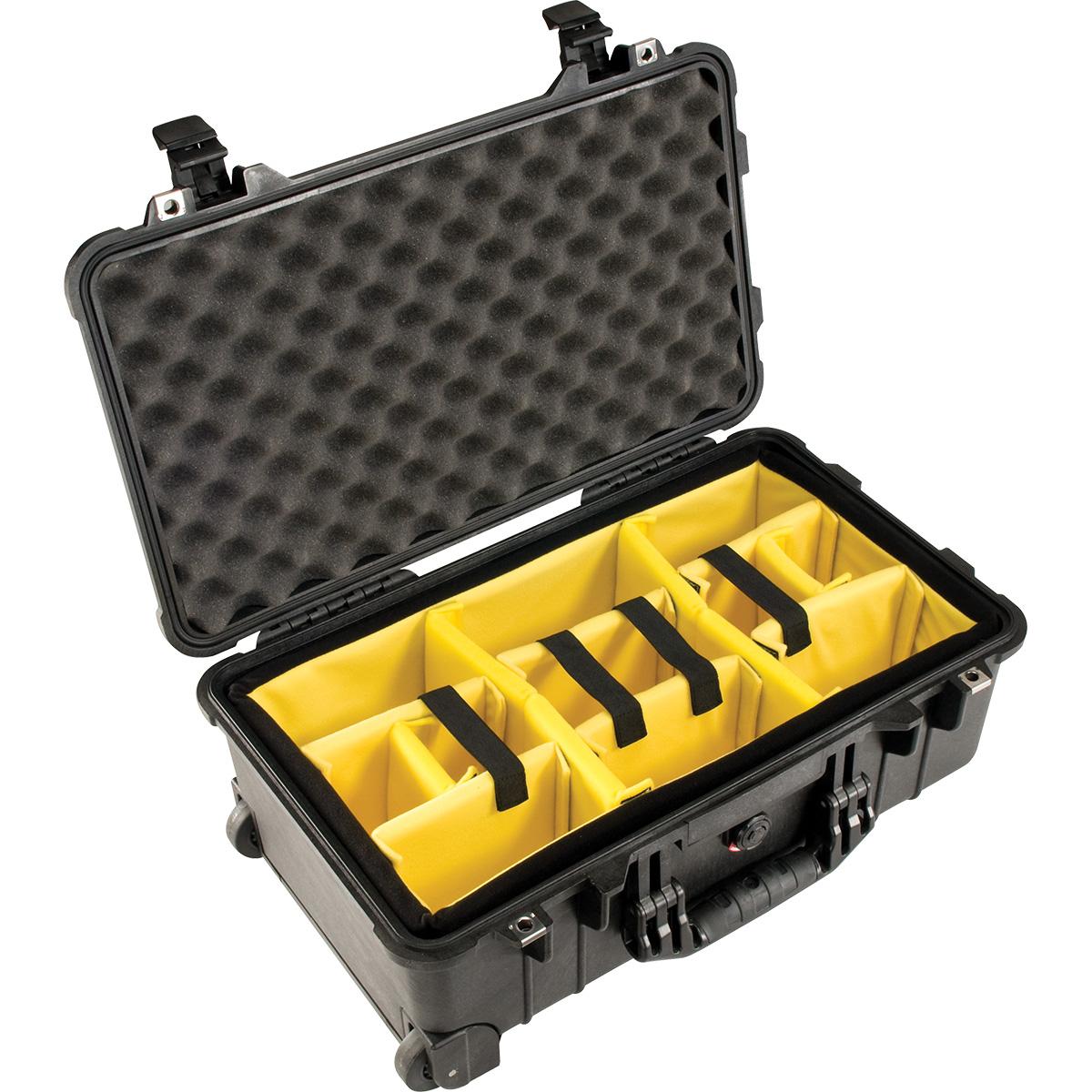 Peli Case 1510 Zwart-Met klittenband vakverdeling