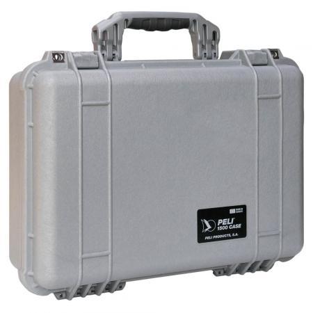 Peli Case 1500 Zilver Met plukschuim