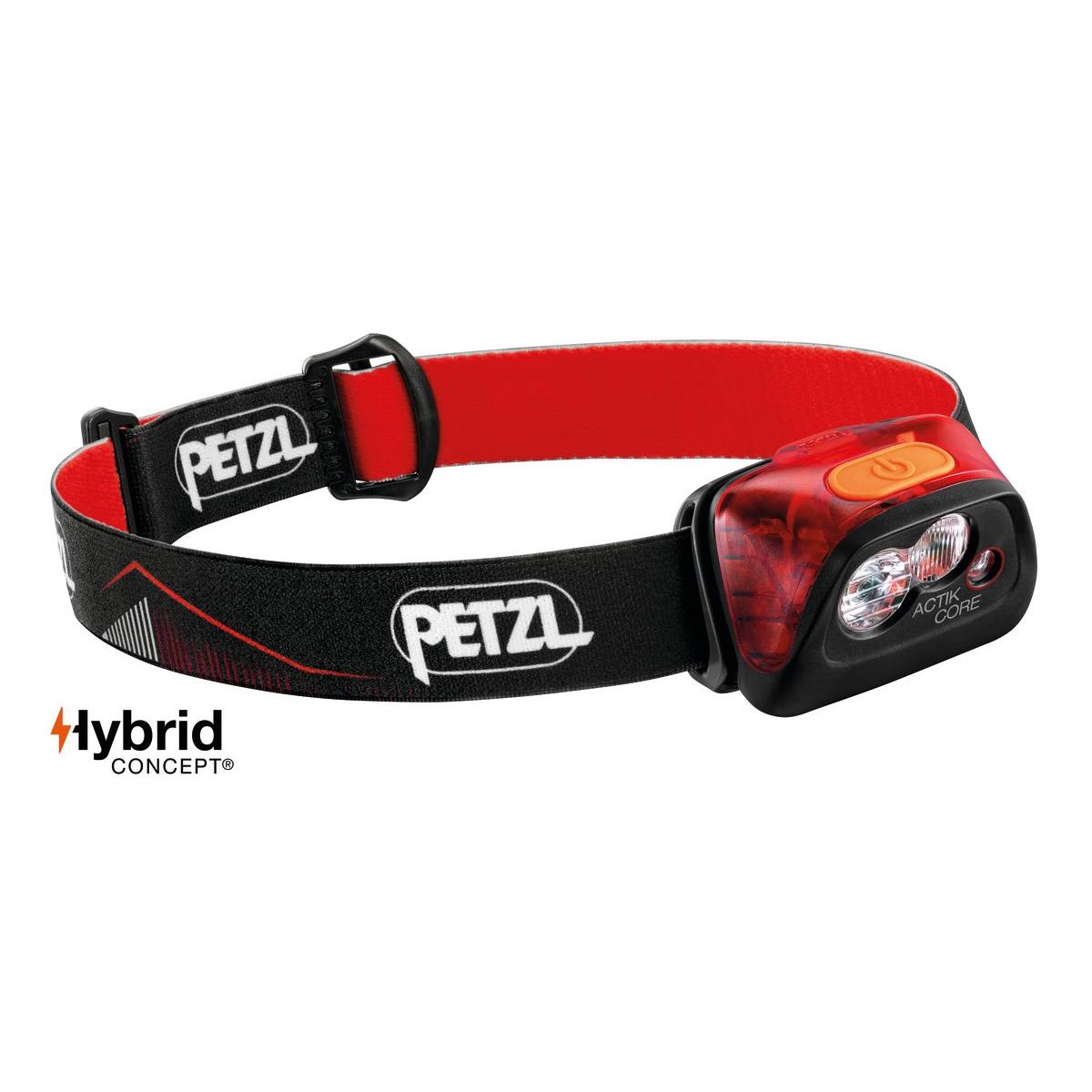 Petzl Actik Core Hoofdlamp - Rood - 450 lumen
