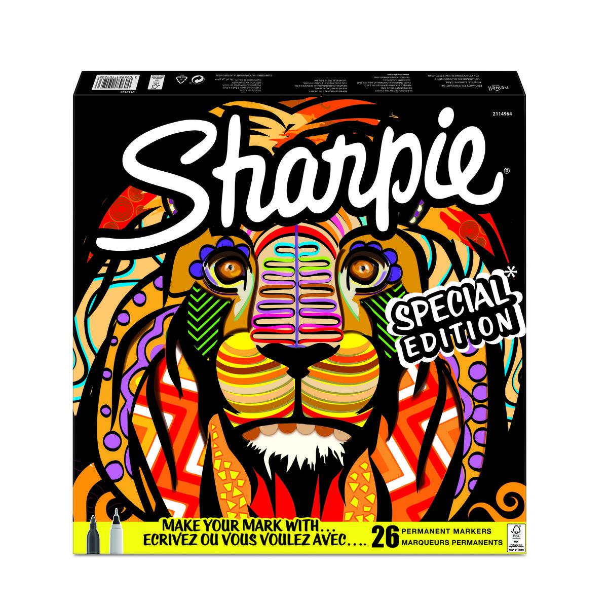 Sharpie Fine Point markeerstiften 26 stuks - leeuw