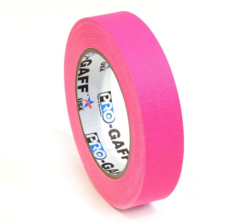 Pro-Gaff neon gaffa tape 24mm x 22,8m roze