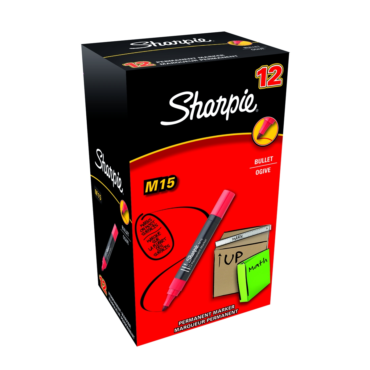 Sharpie permanent marker M15 rood - 12 stuks