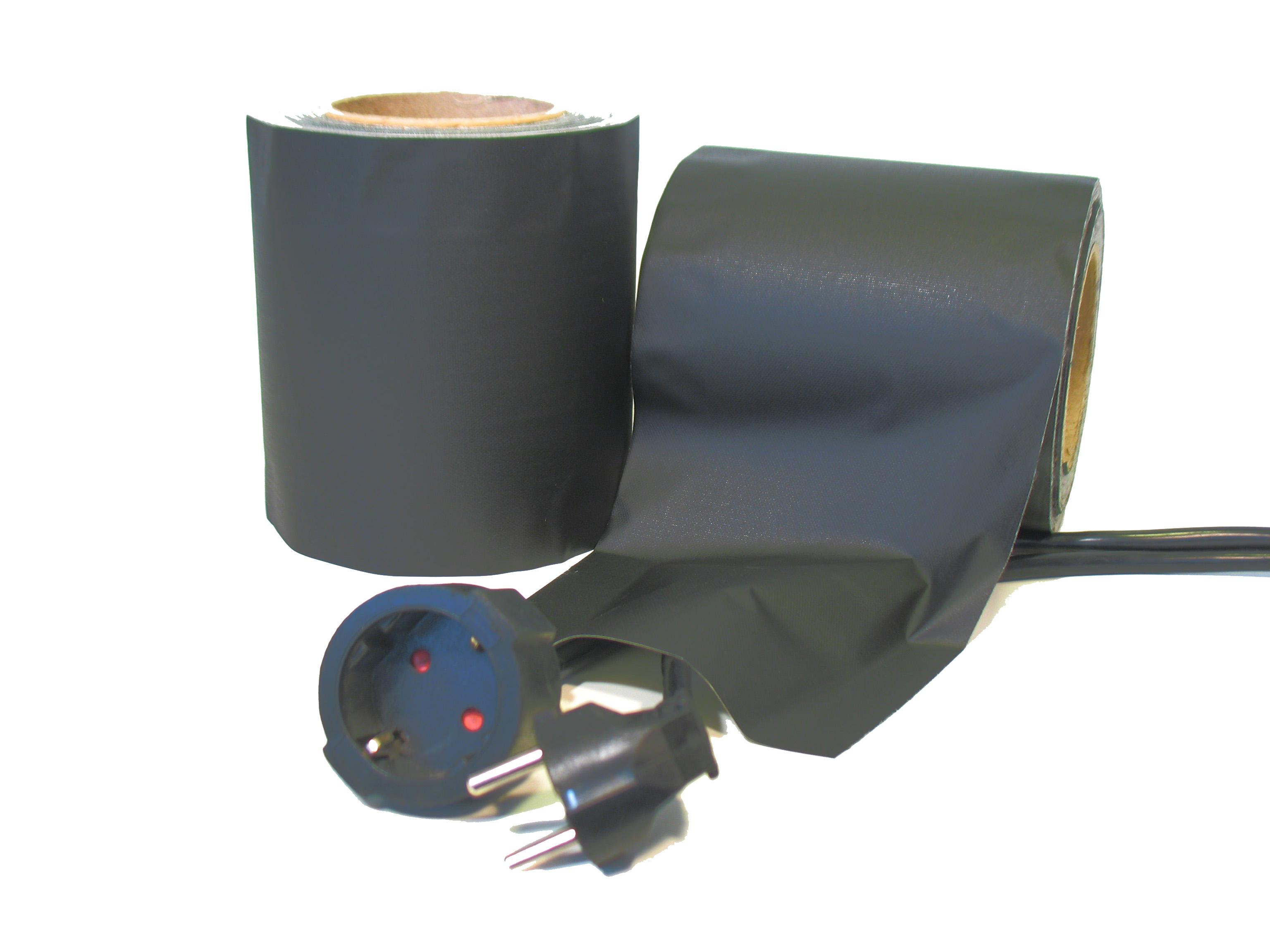 SlipWay Cable Cover tape tape 145mm x 30m Zwart