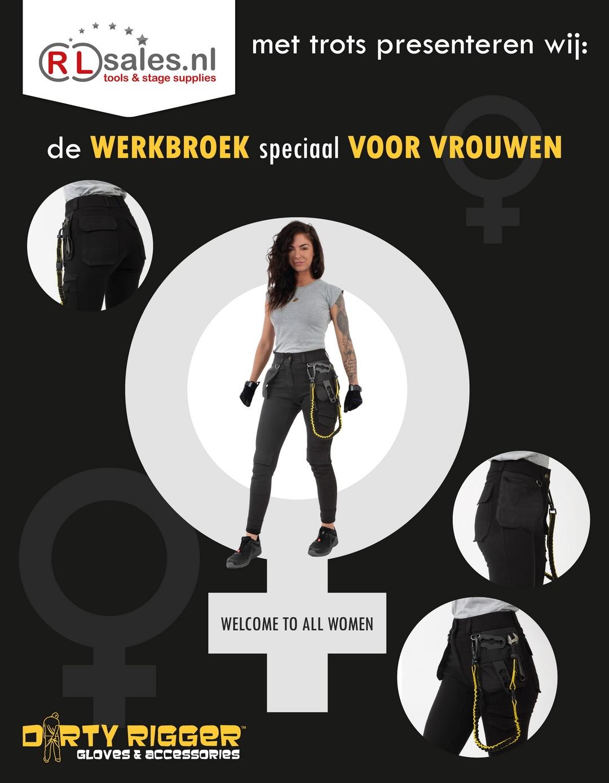 Dirty Rigger dames werkbroek genomineerd als inovatieprijs CUE 2020