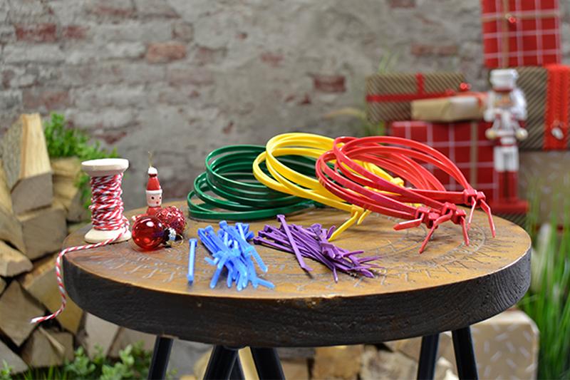 Creatieve kabelbinders